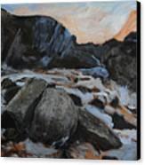 Frozen Waterfall Canvas Print by Harry Robertson