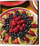 Fruit Tart Pie Canvas Print by Garry Gay
