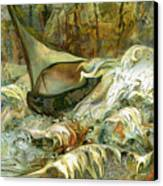 Fun With The Waves Canvas Print by Anne Weirich