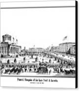 Funeral Obsequies Of President Lincoln Canvas Print by War Is Hell Store