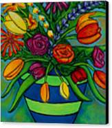 Funky Town Bouquet Canvas Print by Lisa  Lorenz