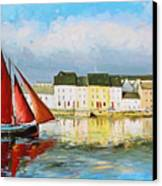 Galway Hooker Leaving Port Canvas Print by Conor McGuire