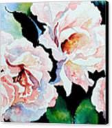 Garden Roses Canvas Print by Hanne Lore Koehler