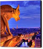 Gargoyle De Paris Canvas Print by Traumlichtfabrik