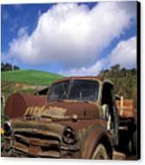 Garrod's Old Truck Canvas Print by Kathy Yates