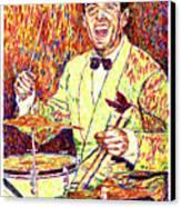 Gene Krupa The Drummer Canvas Print by David Lloyd Glover