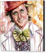 Gene Wilder Canvas Print by Michael  Pattison