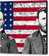 Generals Sherman And Grant  Canvas Print by War Is Hell Store