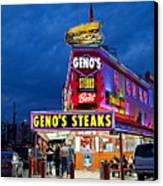 Geno's Steaks South Philly Canvas Print by John Greim