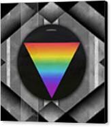 Geometric Pride Canvas Print by Sue Gardiner