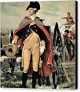 George Washington At Dorchester Heights Canvas Print by Emanuel Gottlieb Leutze