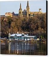Georgetown University Waterfront  Canvas Print by Brendan Reals