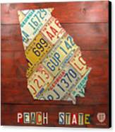 Georgia License Plate Map Canvas Print by Design Turnpike