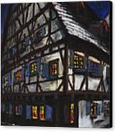 Germany Ulm Fischer Viertel Schwor-haus Canvas Print by Yuriy  Shevchuk