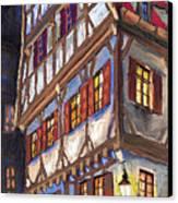 Germany Ulm Old Street Canvas Print by Yuriy  Shevchuk
