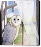 Ghost In The Attic Canvas Print by Amy S Turner