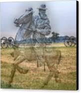 Ghost Of Gettysburg Canvas Print by Randy Steele