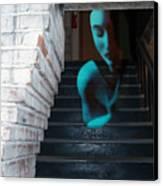 Ghost Of Pain - Self Portrait Canvas Print by Jaeda DeWalt