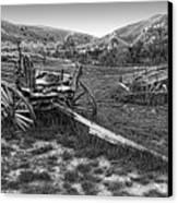 Ghost Wagons Of Bannack Montana Canvas Print by Daniel Hagerman