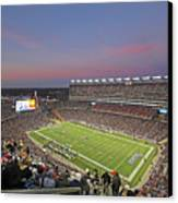 Gillette Stadium In Foxboro  Canvas Print by Juergen Roth
