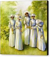 Girls In The Band Canvas Print by Jane Whiting Chrzanoska
