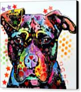 Give Love Pitbull Canvas Print by Dean Russo