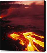 Glowing Lava Flow Canvas Print by Peter French - Printscapes