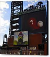 Go Phillies - Citizens Bank Park - Left Field Gate Canvas Print by Bill Cannon