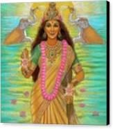 Goddess Lakshmi Canvas Print by Sue Halstenberg