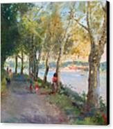 Going For A Stroll Canvas Print by Ylli Haruni