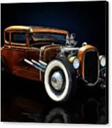 Golden Brown Hot Rod Canvas Print by Rat Rod Studios