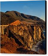 Golden Glow On Big Sur 2 Canvas Print by Kathy Yates