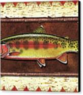 Golden Trout Lodge Canvas Print by JQ Licensing