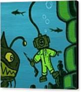 Gone Fish'n Canvas Print by Dan Keough