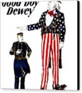 Good Boy Dewey Canvas Print by War Is Hell Store