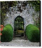 Gothic Entrance Gate, Walled Garden Canvas Print by The Irish Image Collection