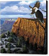 Grand Canyon Lookout Canvas Print by Harold Shull