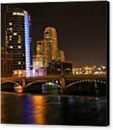 Grand Rapids Mi Under The Lights Canvas Print by Robert Pearson