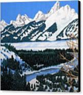 Grand Teton Canvas Print by Frederic Kohli