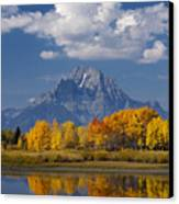 Grand Teton Xii Canvas Print by John Blumenkamp