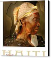 grandma - the people of Haiti series poster Canvas Print by Bob Salo