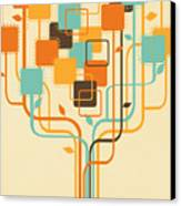 Graphic Tree Canvas Print by Setsiri Silapasuwanchai