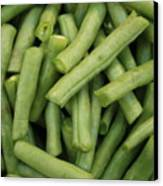 Green Beans Close-up Canvas Print by Carol Groenen