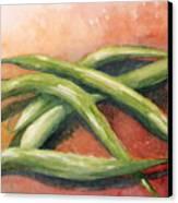 Green Beans Canvas Print by Sandra Neumann Wilderman