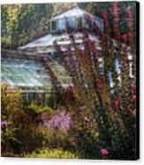 Greenhouse - The Greenhouse Canvas Print by Mike Savad