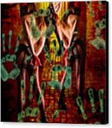 Grubby Littel Hands Enslave Canvas Print by Tammera Malicki-Wong