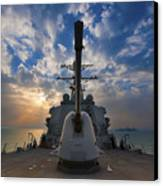Guided-missile Destroyer Uss Higgins Canvas Print by Stocktrek Images