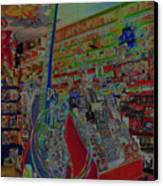 Guitar Dream Canvas Print by Anne Cameron Cutri