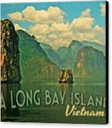 Ha Long Bay Islands Vietnam Canvas Print by Flo Karp