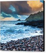 Hana Bay Pebble Beach Canvas Print by Inge Johnsson